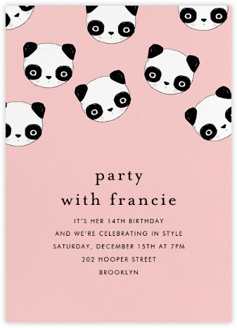 Pandamonium - Ashley G - Birthday invitations