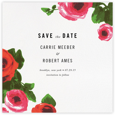 Rose Bed (Save the Date) - kate spade new york - Save the dates