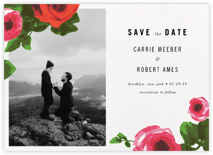 Rose Bed (Photo Save the Date) - kate spade new york - Save the dates
