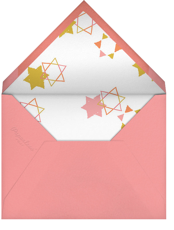 Star Shower - Blossom - Ashley G - Bat and bar mitzvah - envelope back