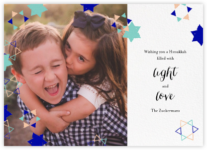 Star Shower (Horizontal Photo) - Ashley G - Hanukkah Cards