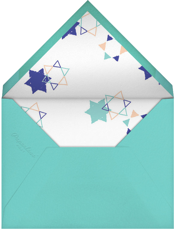 Star Shower (Horizontal Photo) - Ashley G - Hanukkah - envelope back