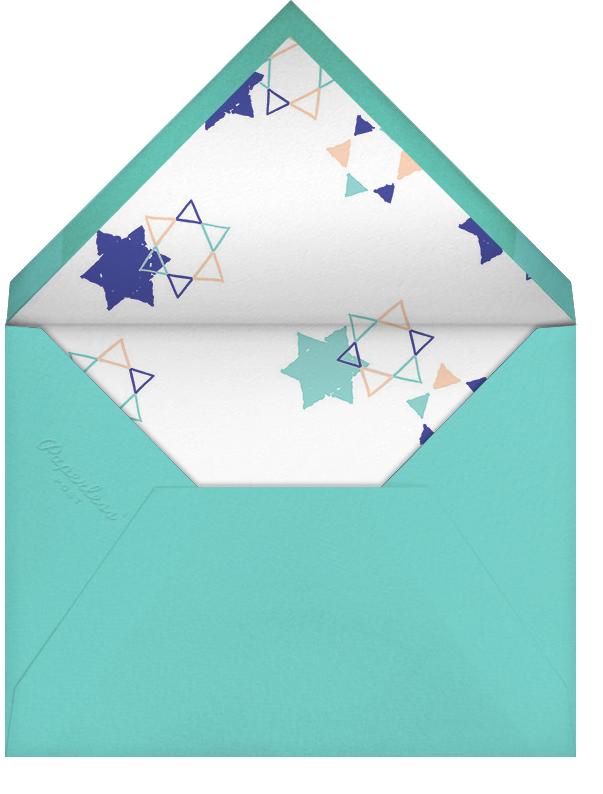 Star Shower (Tall Photo) - Indigo - Ashley G - Bar and bat mitzvah - envelope back