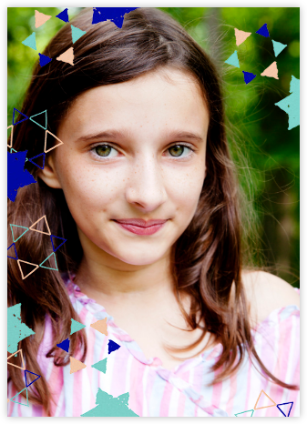 Star Shower (Tall Photo) - Indigo - Ashley G - Bat and Bar Mitzvah Invitations