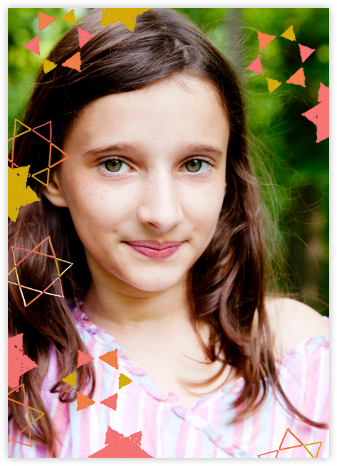 Star Shower (Tall Photo) - Blossom - Ashley G - Bar and Bat Mitzvah Invitations