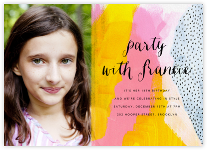 Sundry Strokes (Photo) - Ashley G - Online Kids' Birthday Invitations