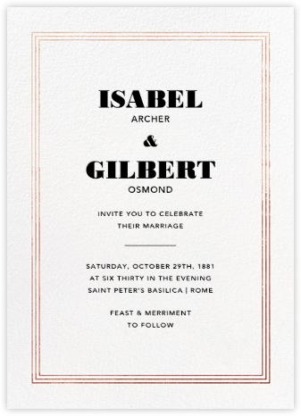 Triple Interior Border (Tall) - Rose Gold - Paperless Post - Modern wedding invitations