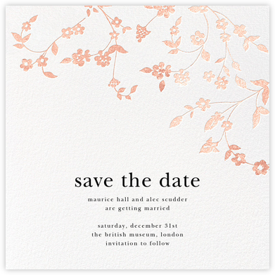 Floral Trellis (Save the Date) - Rose Gold - Oscar de la Renta - Save the dates