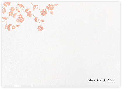 Floral Trellis II (Stationery) - Rose Gold | null