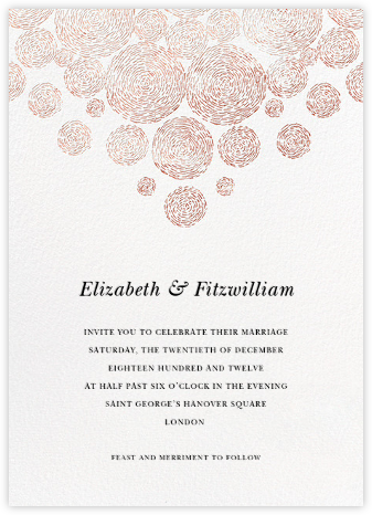 Radiant Swirls (Invitation) - Rose Gold - Oscar de la Renta -