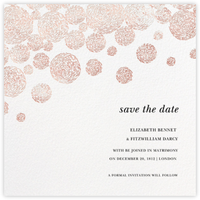 Radiant Swirls (Save the Date) - Rose Gold - Oscar de la Renta - Save the dates