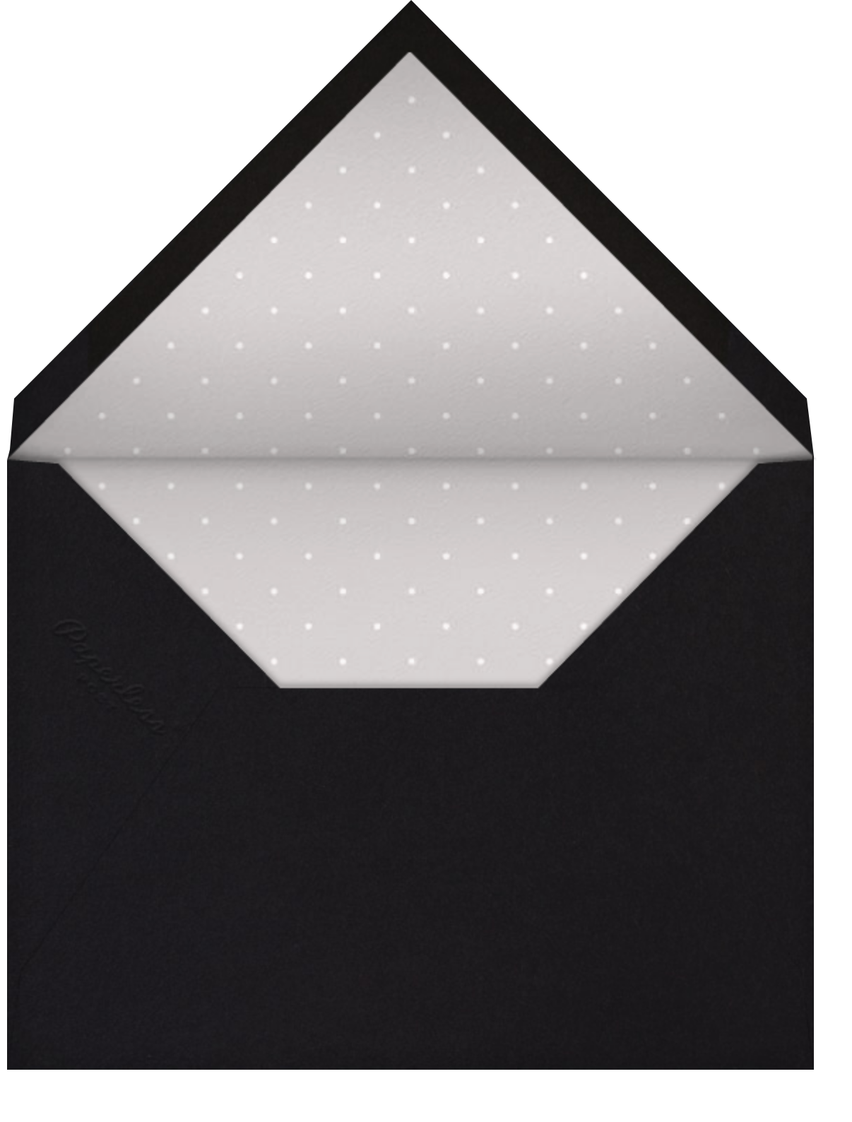 Quad - Black - Paperless Post - Graduation party - envelope back