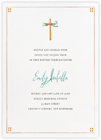 Miss Harrison (Invitation) - Mr. Boddington's Studio - Christening Invitations