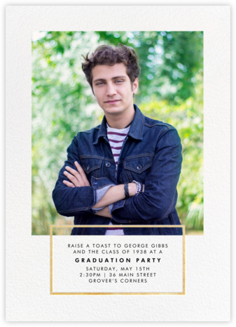 Placard - Gold - Paperless Post - Graduation Party Invitations
