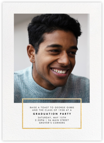 Placard - Gold - Paperless Post - Online Party Invitations