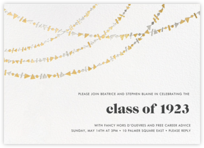 Streamer Shapes - Metallic - Paperless Post - Celebration invitations