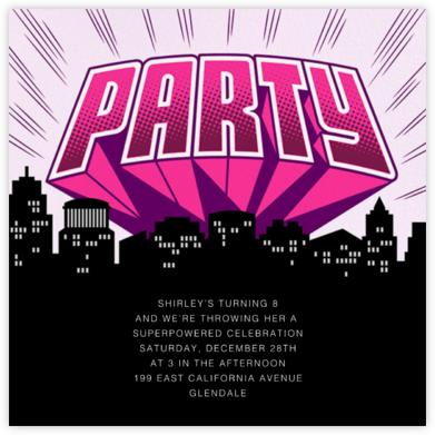 Party Hero - Blush - Paperless Post -