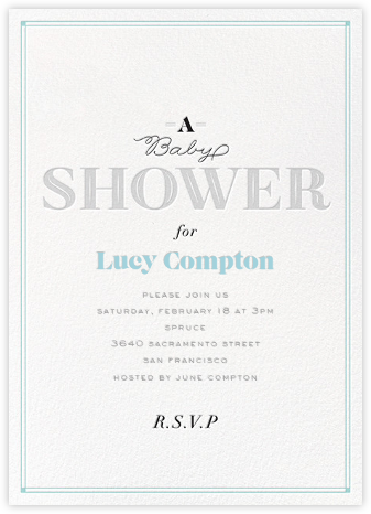 Baby Banner - Blue - bluepoolroad - Baby shower invitations
