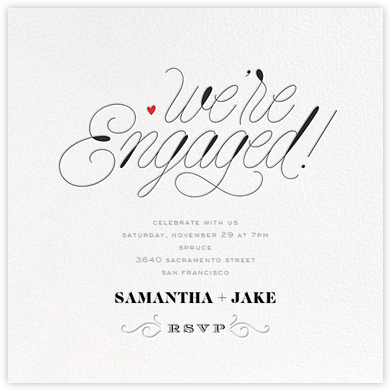 We're Engaged - bluepoolroad - bluepoolroad invitations and cards