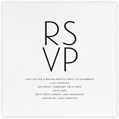 S'il Vous Plaît - Black - bluepoolroad - Bachelorette party invitations