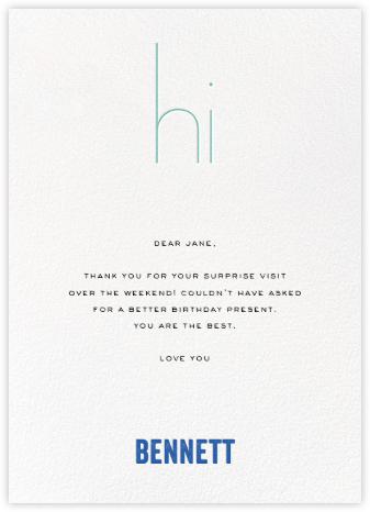 Hi Profile - Blue - bluepoolroad - bluepoolroad invitations and cards