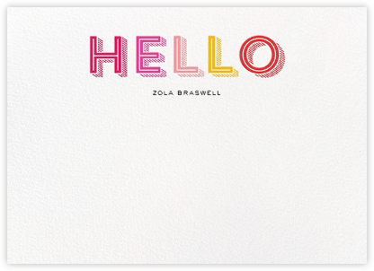 Hatched Hello - Pink - bluepoolroad - Baby and kids' stationery