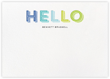 Hatched Hello - Blue - bluepoolroad - Baby and kids' stationery