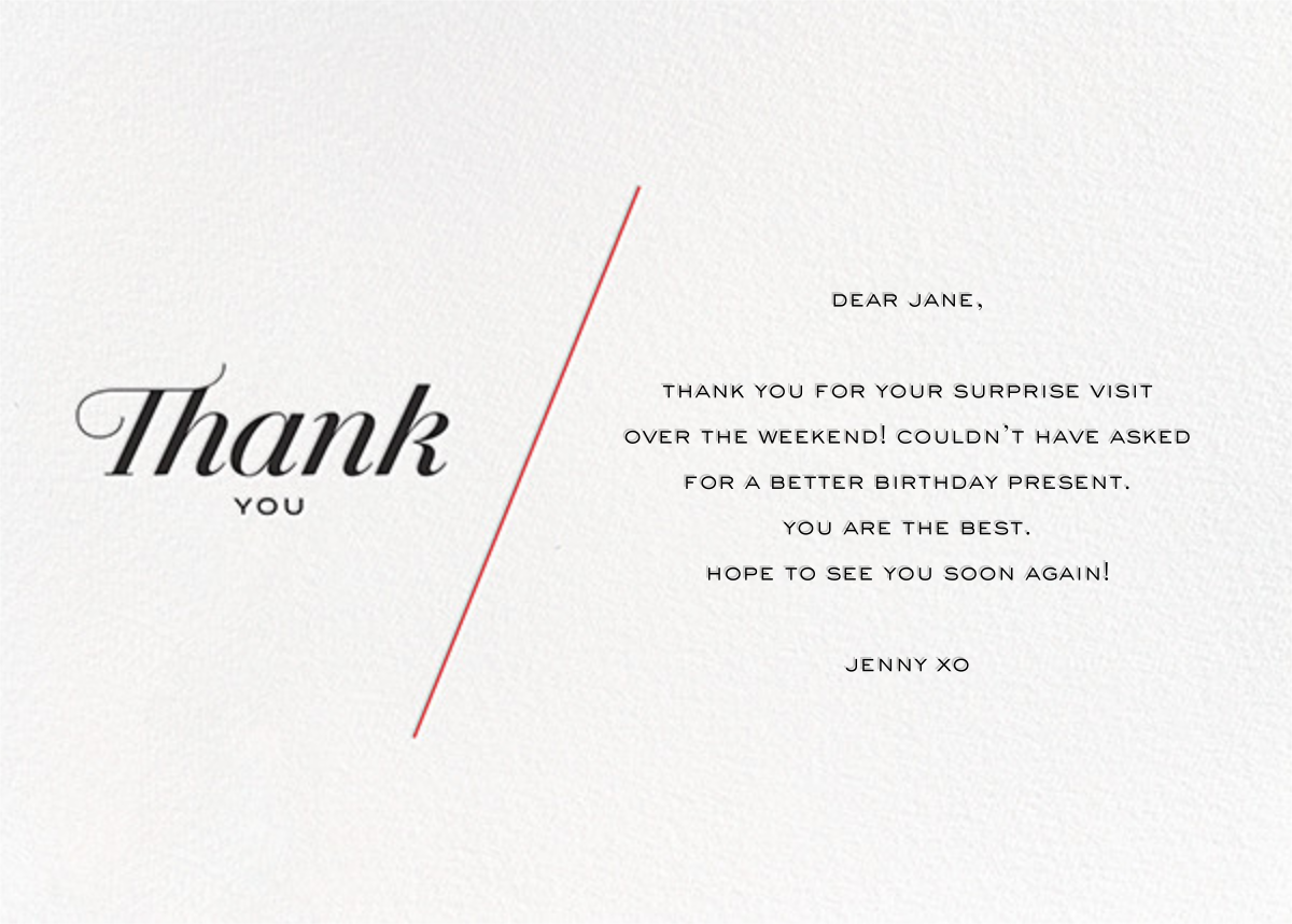 Thank you notes online at Paperless Post
