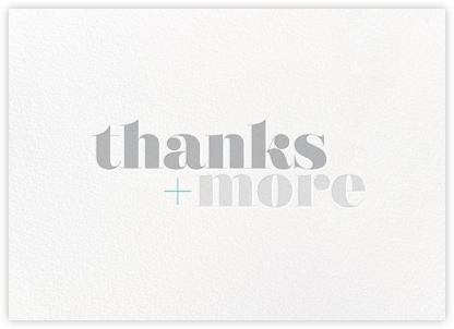 Thanks and More - bluepoolroad - bluepoolroad invitations and cards