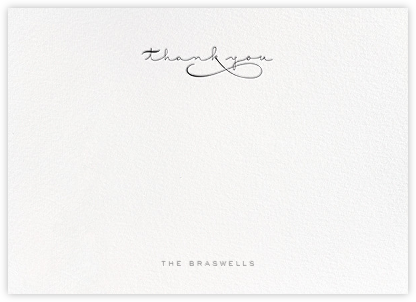 Thankful Flourish (Stationery) - Black | horizontal