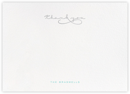 Thankful Flourish (Stationery) - Gray - bluepoolroad - Wedding thank you notes