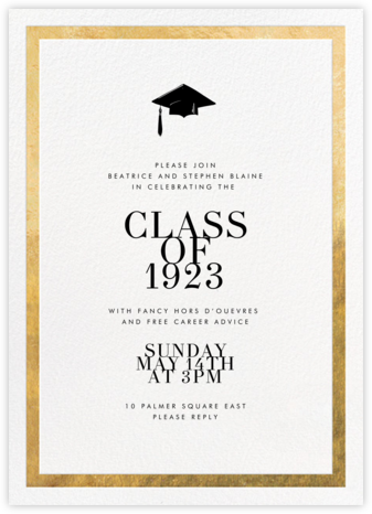 Editorial II - White/Gold - Paperless Post - Invitations for Parties and Entertaining