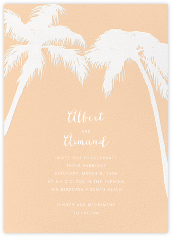 Tropical Palm - Bellini - Paperless Post - Wedding Invitations