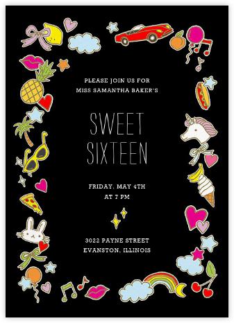 Teenage Dream - Black - Paperless Post - Sweet 16 invitations