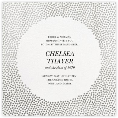 Konfetti - Silver - Kelly Wearstler - Graduation Party Invitations