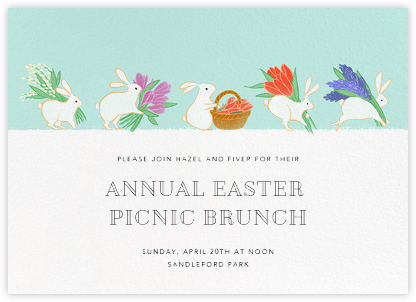 Bunny Blooms - Paperless Post - Easter invitations
