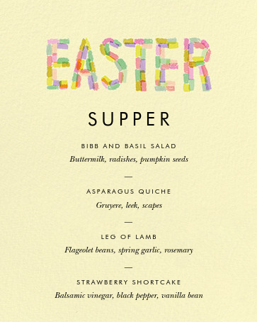 Paschal Pastels - Yellow - Rifle Paper Co. - Easter - insert front