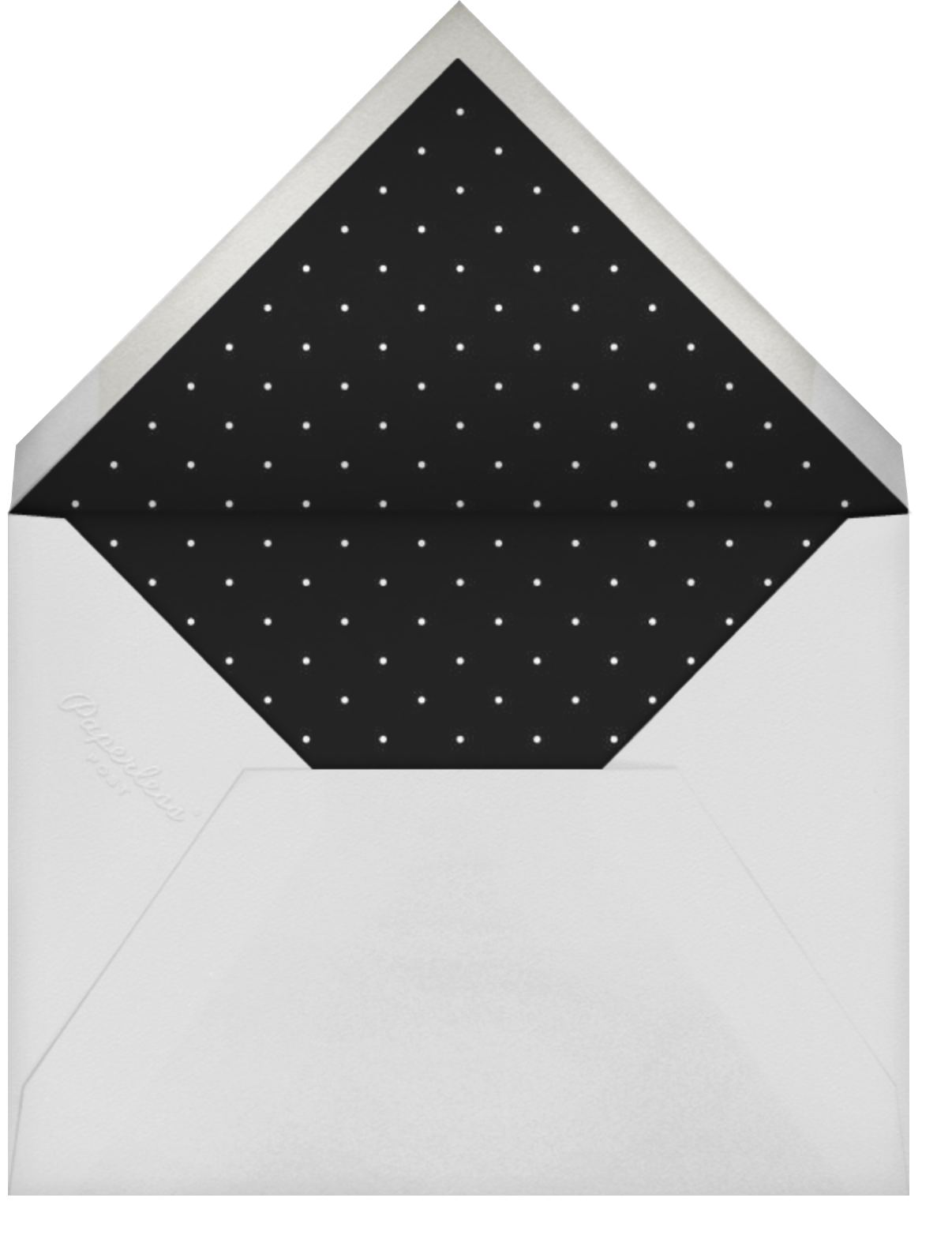 Editorial II (Photo Invitation) - White/Gold - Paperless Post - Graduation party - envelope back
