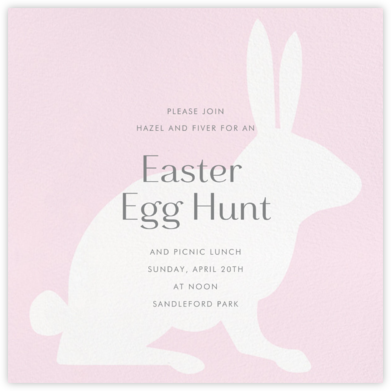 Rabbit - Sweet Pea - Paperless Post - Easter invitations