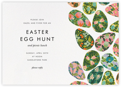 The Grass Menagerie - Rifle Paper Co. - Easter invitations