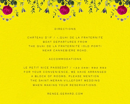 Damascena (Invitation) - Yellow - Paperless Post - All - insert front