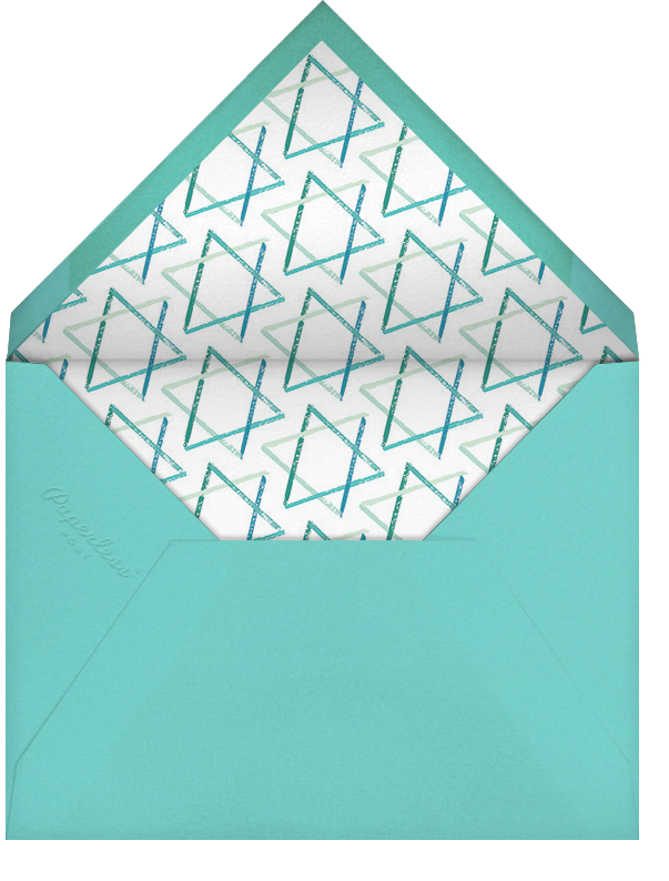 Brushstroke Star - Teal - Paperless Post - Bar and bat mitzvah - envelope back
