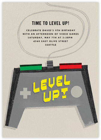 Level Up - Paperless Post - Kids' Birthday Invitations