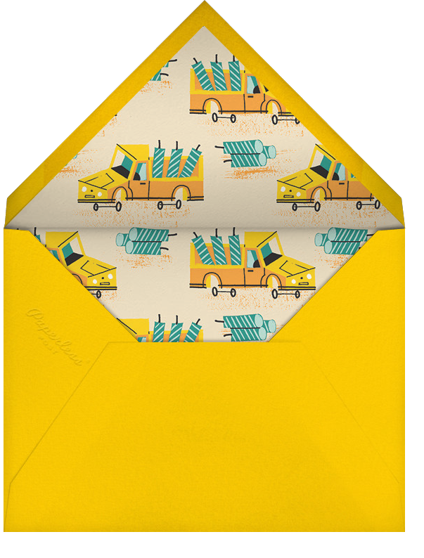Under Construction - Paperless Post - Kids' birthday - envelope back