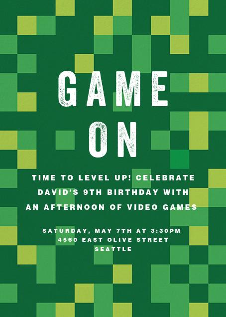 Pixelation Nation - Paperless Post - Kids' birthday invitations