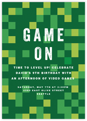 Pixelation Nation - Paperless Post - Kids' birthday invitations