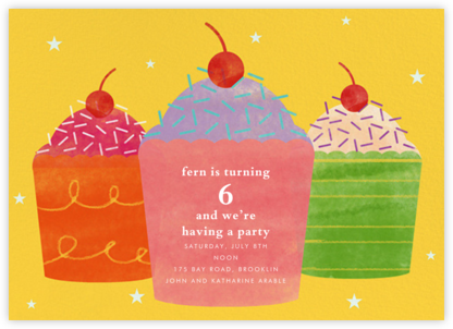 Cupcake Social - Paperless Post - Online Kids' Birthday Invitations