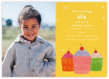 Cupcake Social (Photo) - Paperless Post - Online Kids' Birthday Invitations