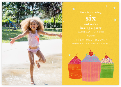Cupcake Social (Photo) - Paperless Post - Kids' birthday invitations