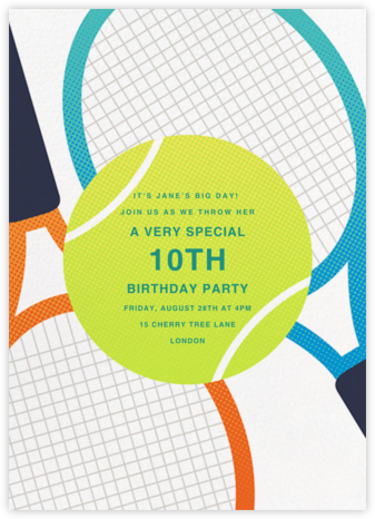 Old School Racquets - Paperless Post - Kids' birthday invitations